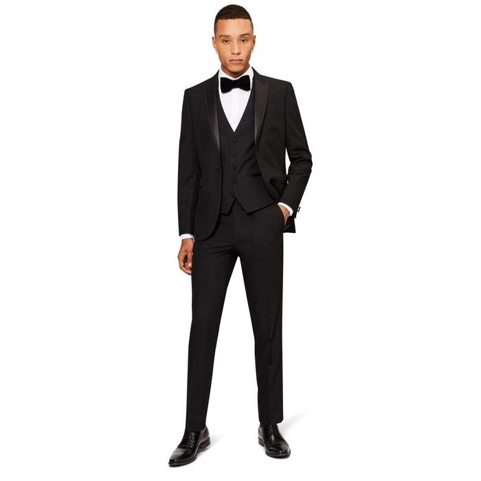 Costume 3 pièces coupe skinny noir Moss London