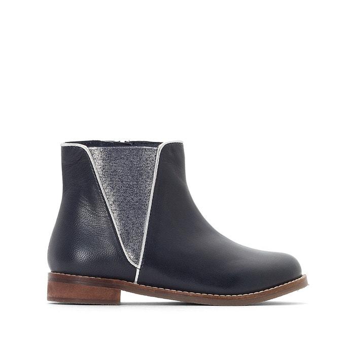 Chelsea boots met glanzend biesje  La Redoute Collections image 0