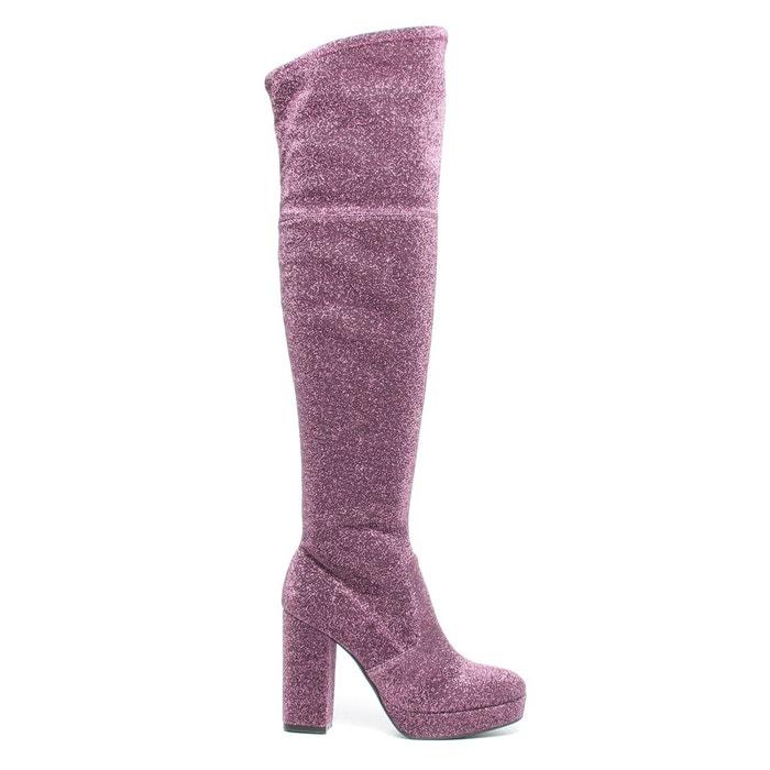 Sacha x fashionchick bottes pailletées rose Sacha