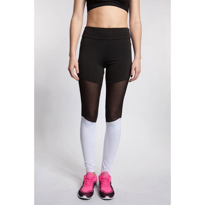 Legging de sport bi-color empiècement résille noir Bodyskult  41ce5089678