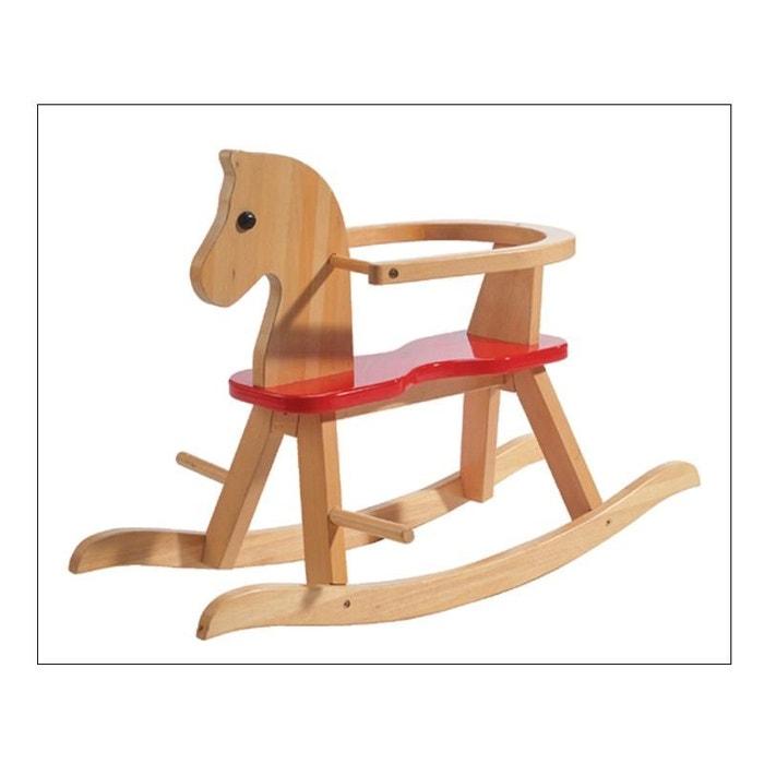Roba 6918 cheval à bascule en bois naturel