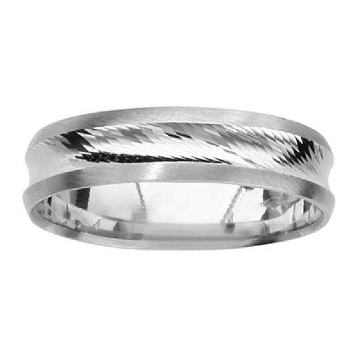 Vente Grande Remise Acheter En Ligne Pas Cher Bague anneau alliance mixte diamantée brossée 5 mm argent 925 couleur unique So Chic Bijoux | La Redoute ypaJw