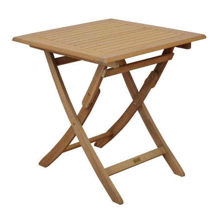Table de jardin carr en bois cali 70cm bois rendez vous deco la redoute - Table bois la redoute ...