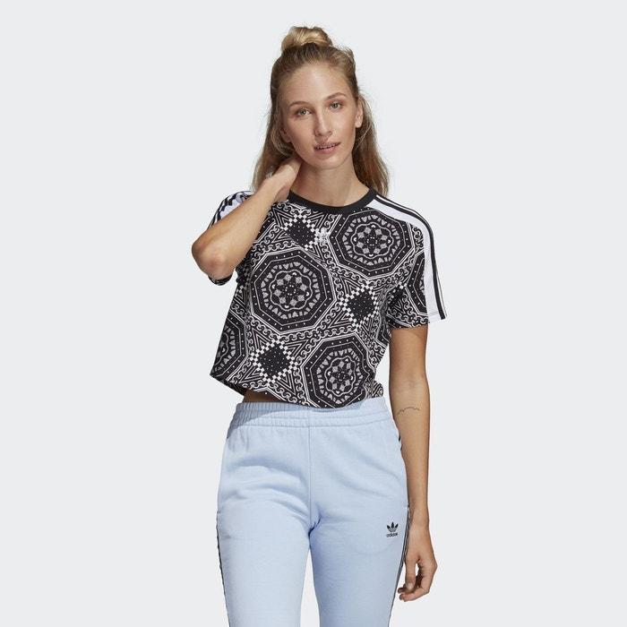5e1ee9b81f1d T-shirt cropped noir Adidas Originals