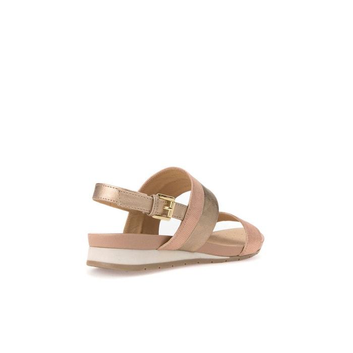 Sandales cuir d formosa c rose-argent Geox