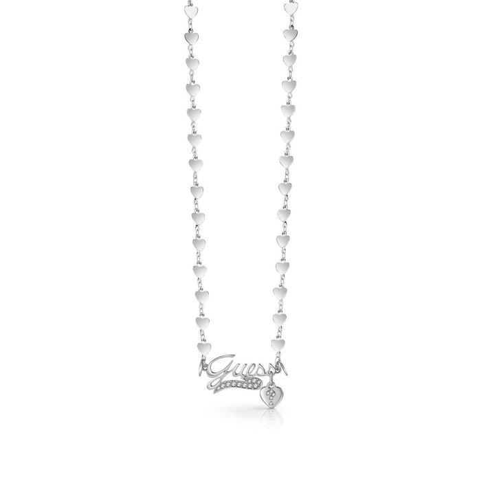 Sortie D'usine En Ligne La Sortie Pas Cher Collier million hearts logo argent Guess | La Redoute Vente 2018 Unisexe Prix Le Plus Bas Pas Cher F4MeEQb
