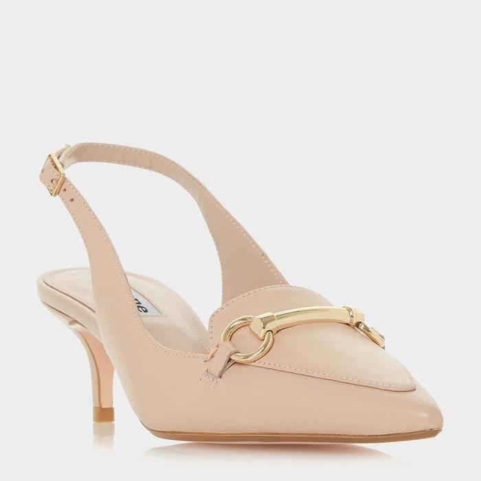 Chaussures à talon bobine et bout pointu avec bride arrière Authentique En Ligne GHHm3B