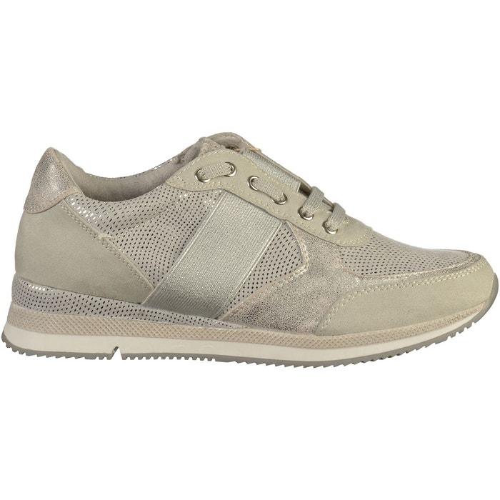 Sneaker  beige Marco Tozzi  La Redoute