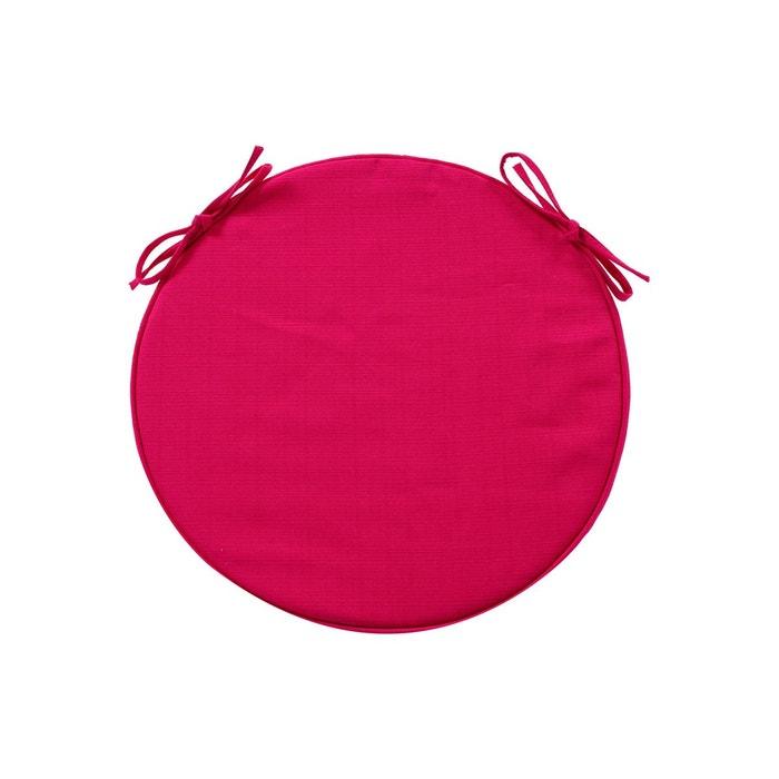 galette de chaise ronde diam 42 cm framboise rose hesperide la redoute. Black Bedroom Furniture Sets. Home Design Ideas