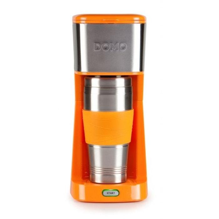 cafeti re design orange caf moulu ou dosette individuelle avec gobelet isotherme couleur. Black Bedroom Furniture Sets. Home Design Ideas