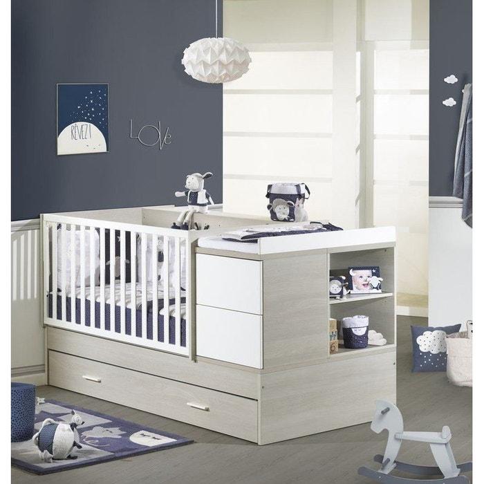 lit combin volutif 140x70 new opale sans motif sauthon meubles couleur unique sauthon la. Black Bedroom Furniture Sets. Home Design Ideas