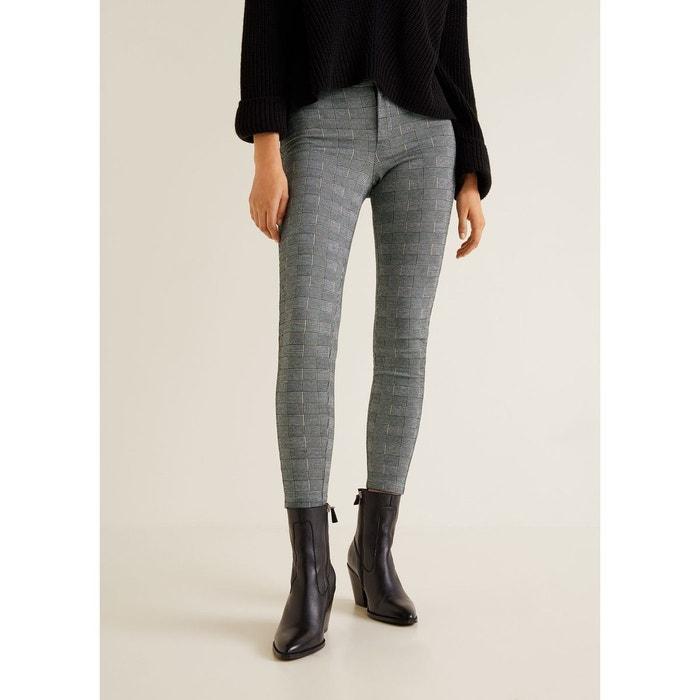 Leggings à carreaux gris Mango   La Redoute eb0408bc44bb