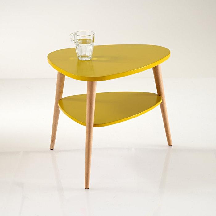 Jimi vintage bedside table mustard la redoute interieurs la redoute - La redoute table de nuit ...
