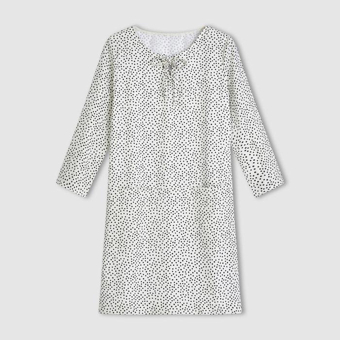 Bild Kurzes Kleid, 3/4-Ärmel, Schnürung am Ausschnitt R essentiel