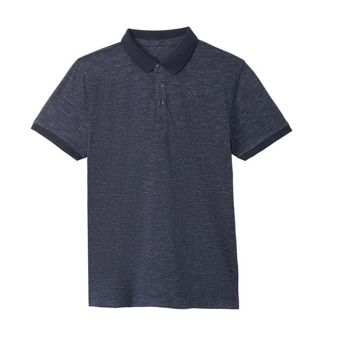 Plain Short-Sleeved Piqué Polo Shirt  La Redoute Collections image 0