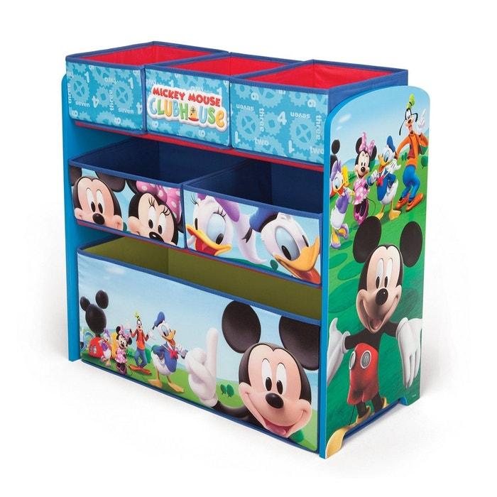 meuble de rangement 6 cases mickey disney bleu vert delta la redoute. Black Bedroom Furniture Sets. Home Design Ideas