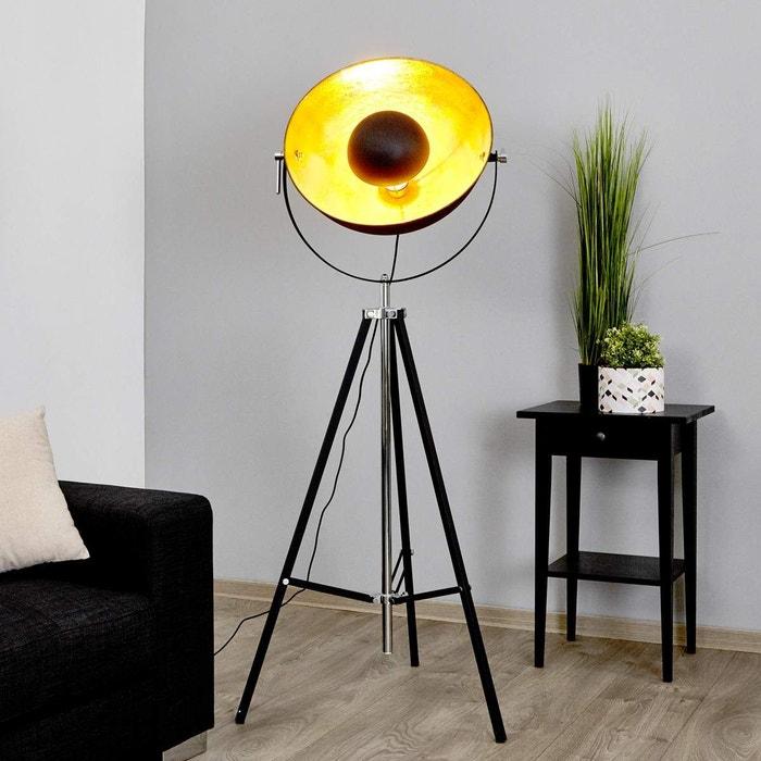 Lampadaire mineva moderne en noir en métal e a pour salon salle