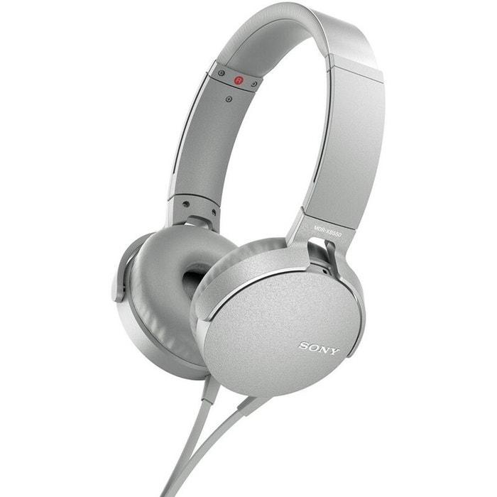 250ec9317b6 Casque audio mdr-xb550ap blanc blanc Sony | La Redoute