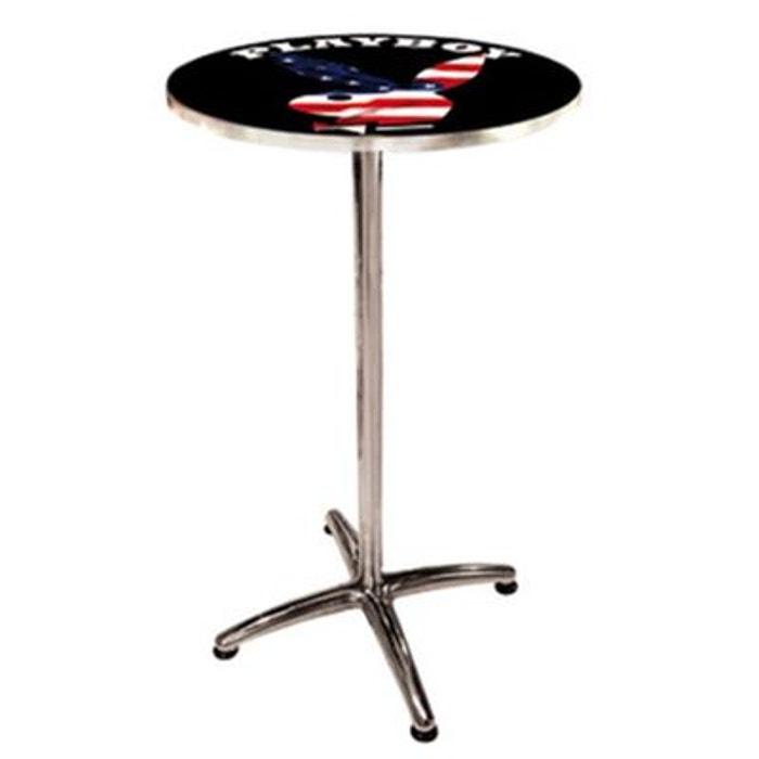 Table De Bar Ronde Haute: Grande Table Ronde En Métal De Bar Playboy Usa Tropico