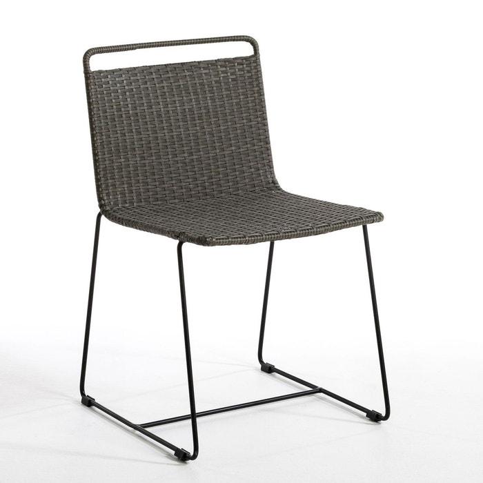 Chaise de jardin ambros design e gallina anthracite am for Chaise la redoute