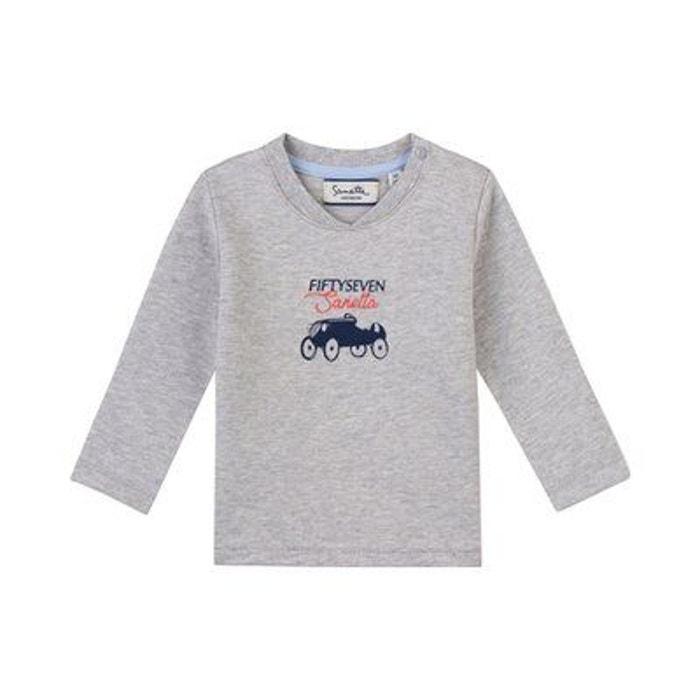e41e9f41420cd0 Sanetta sweat-shirt voiture t-shirt bébé vêtements bébé gris Sanetta | La  Redoute
