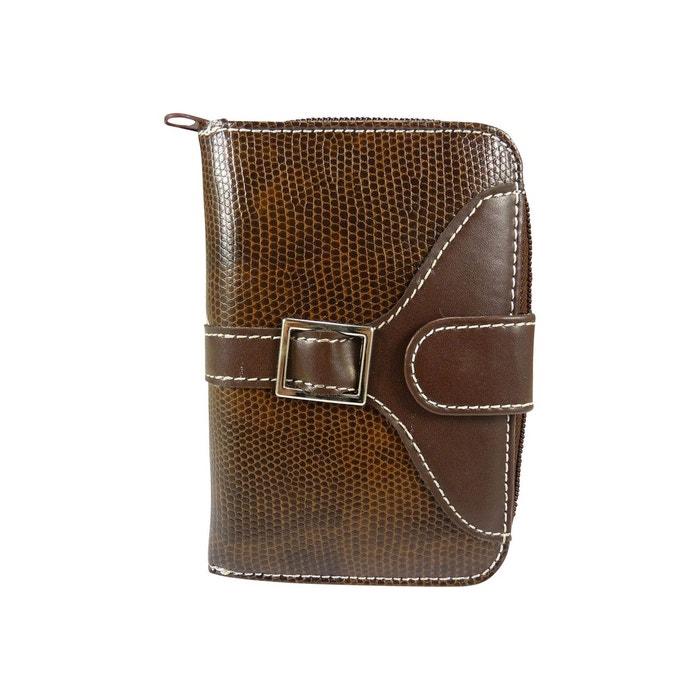 Porte monnaie petit portefeuille femme 4 soufflets simili cuir croco,  reptile Chaussmaro   La Redoute 2bfd252ced0