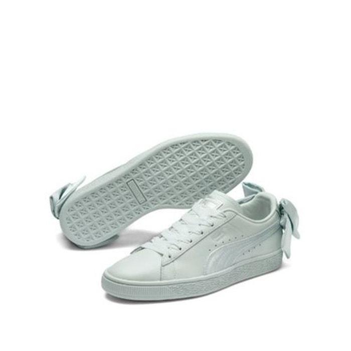 Choisir Chaussures Bow Puma Bleu Cuir Qixwsa Basket Une Avec Noeud QdCtrsh