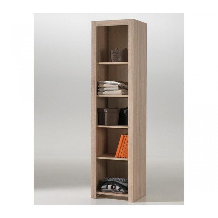Biblioth que imitation ch ne clair bi2003 bois naturel - Bibliotheque chene clair ...