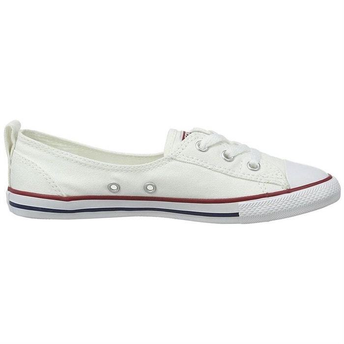 9d8fc0b555c14 Baskets mode toile blanc Converse