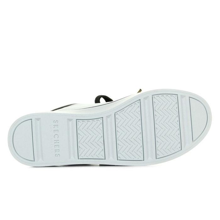 Baskets femme hi lites white gold blanc, noir, doré Skechers