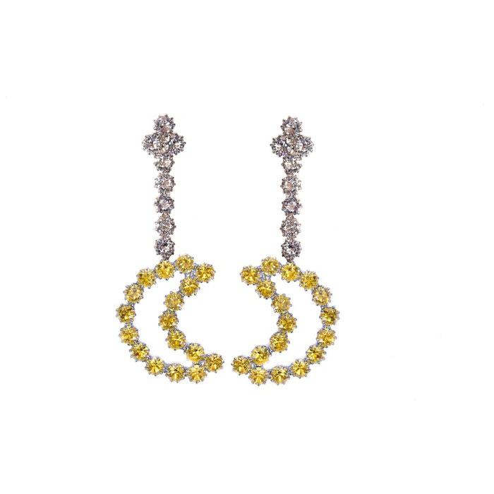 Dernières Collections De Dédouanement Boucles d'oreilles leila jaunes couleur unique Reine Rosalie   La Redoute fiable IH0f990B