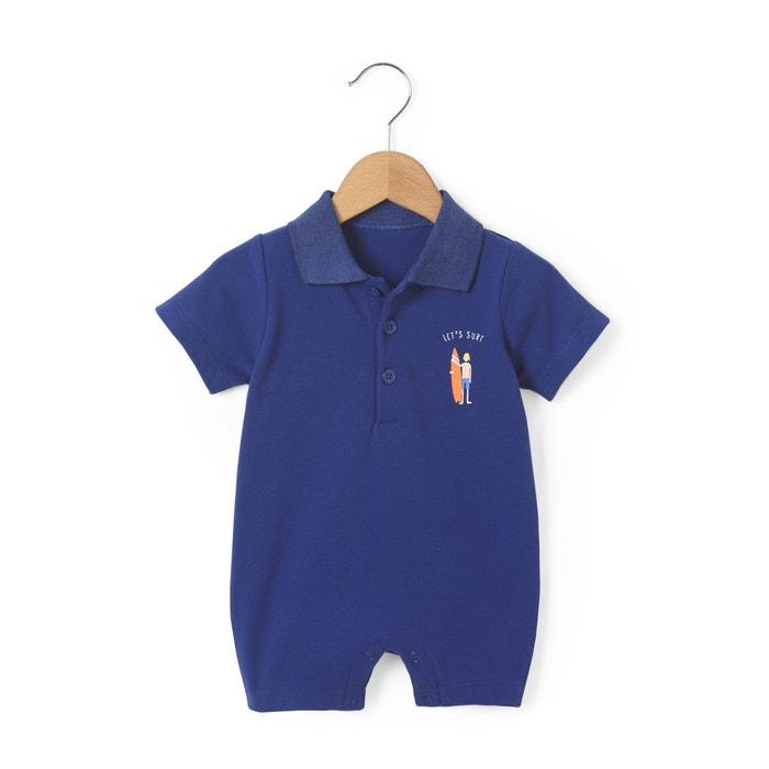 Image Tuta-shorts in maglia piqué 1 mese-3 anni La Redoute Collections