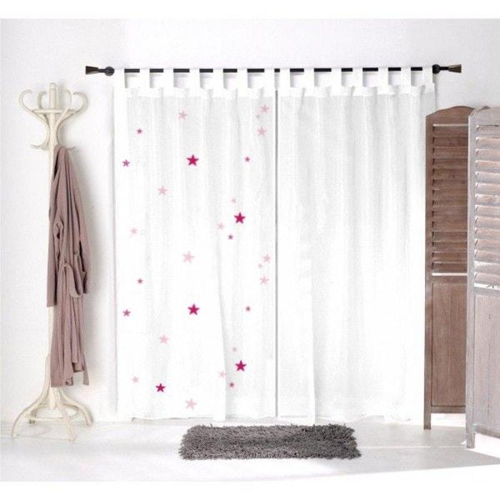 voilage enfant etoiles roses multicolore decoloopio la redoute. Black Bedroom Furniture Sets. Home Design Ideas
