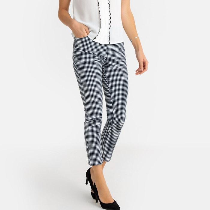Pantalon 7 8 ème imprimé vichy vichy noir Anne Weyburn  f2db530d3cd