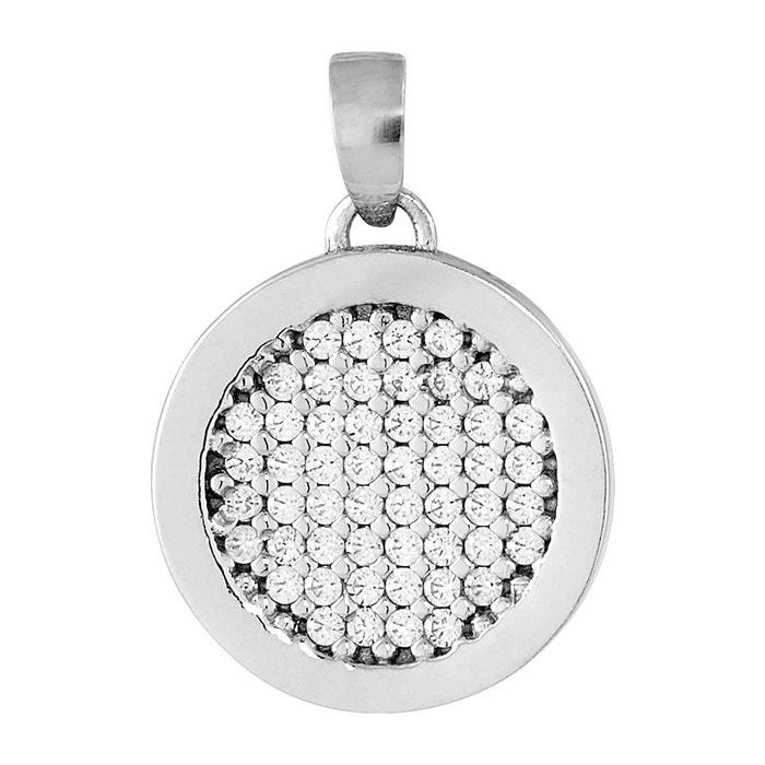 Pendentif en or 375/1000 argenté et oxyde blanc blanc Cleor | La Redoute Vente Style De Mode Fmbahz