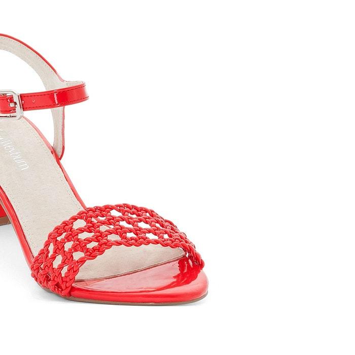 Sandales à bride rouge Anne Weyburn