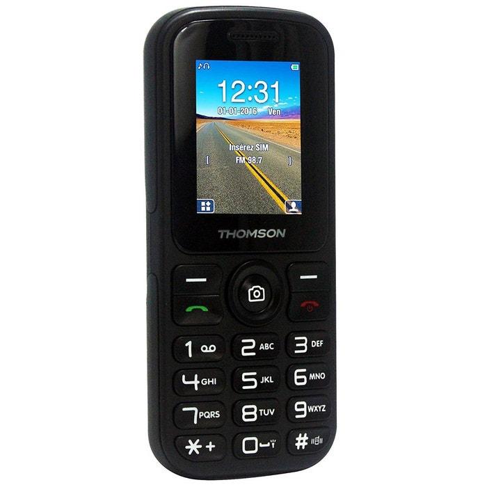 Mobile thomson tlink 18 noir couleur unique thomson la redoute - La redoute telephone gratuit ...