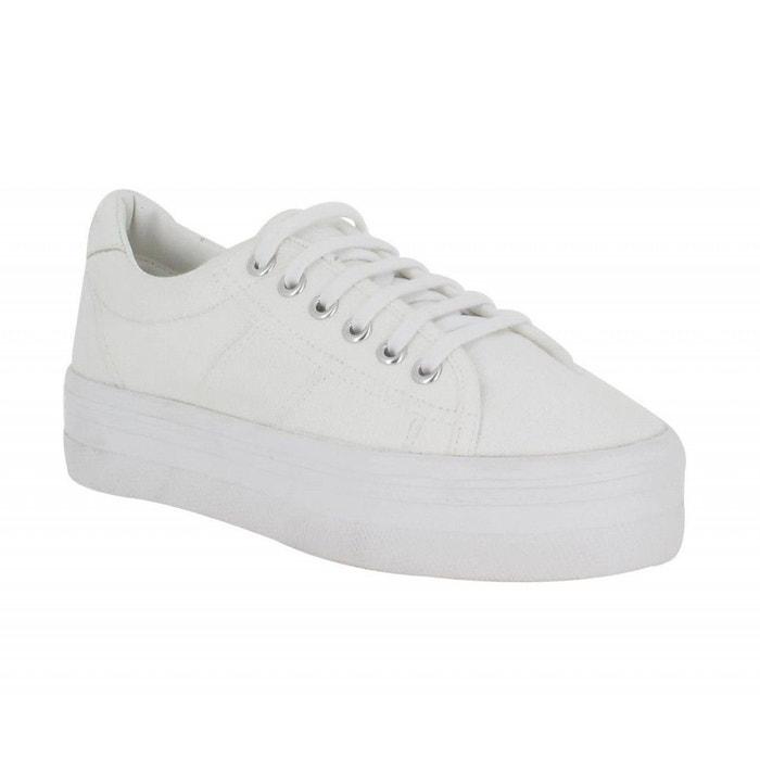 Baskets femme no name plato sneaker toile femme blanc blanc No Name Véritable Prix Pas Cher Vente Style De Mode Pas Cher uFdKMJG1U