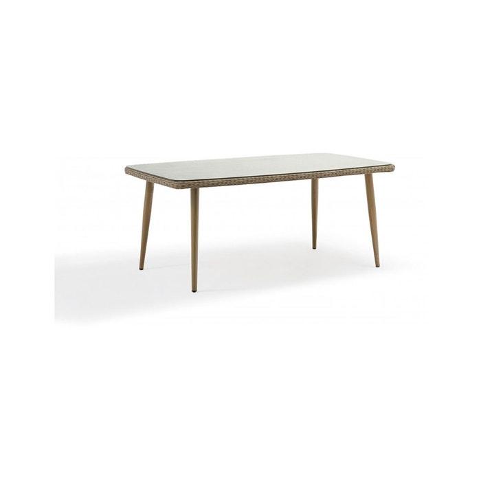 Table de jardin CUBA aluminium et résine tressée