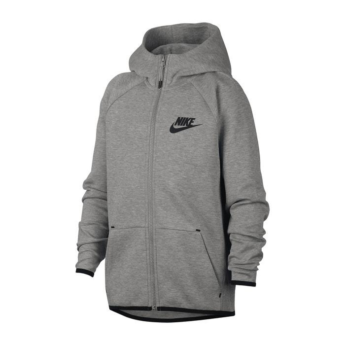 557645b077fcdc Felpa sportiva cerniera e cappuccio 6 - 16 anni grigio Nike | La Redoute