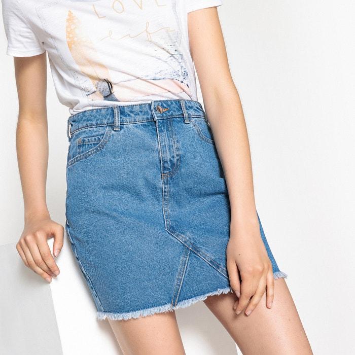 Straight 5 Pocket Denim Skirt  ONLY image 0