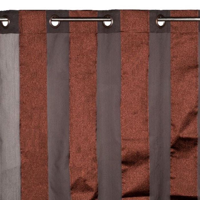 voilage oeillets ristretto marron clair madura la redoute. Black Bedroom Furniture Sets. Home Design Ideas