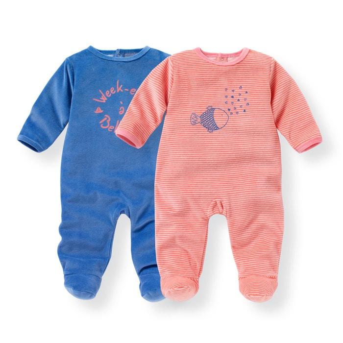 Image Pyjama velours 0 mois-3 ans (lot de 2) R mini