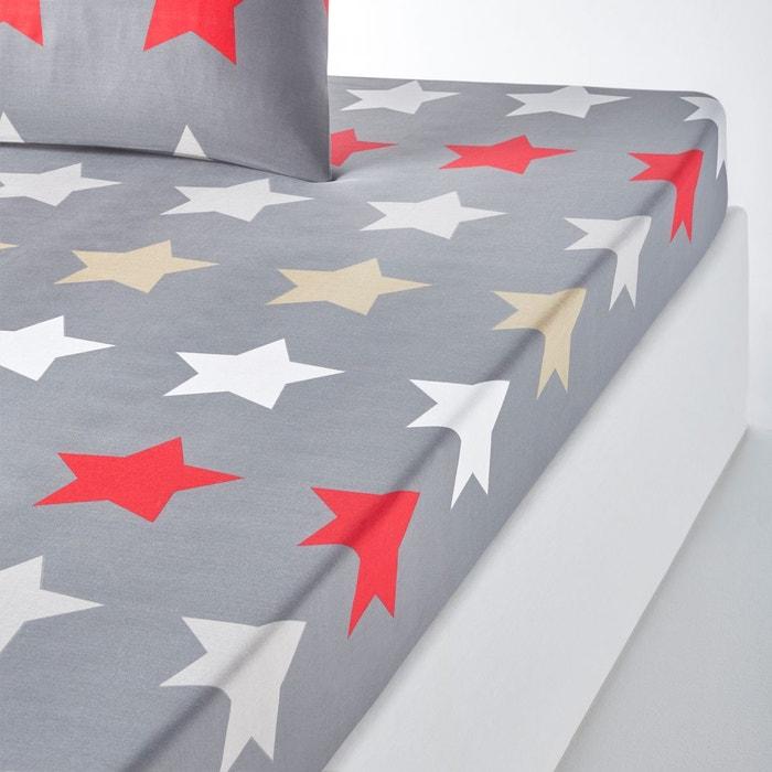 Drap housse imprim stars anthracite la redoute - Drap housse imprime ...