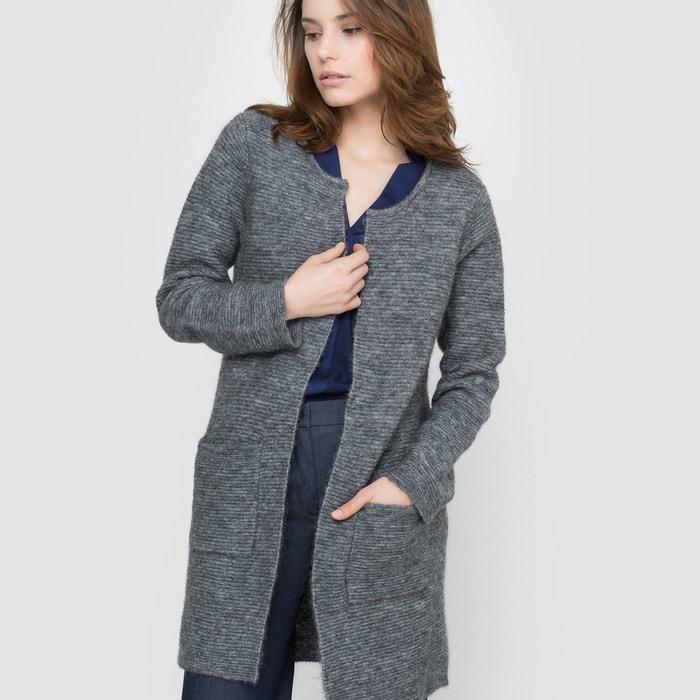 Image Długi sweter rozpinany z dzianiny mulinowej atelier R