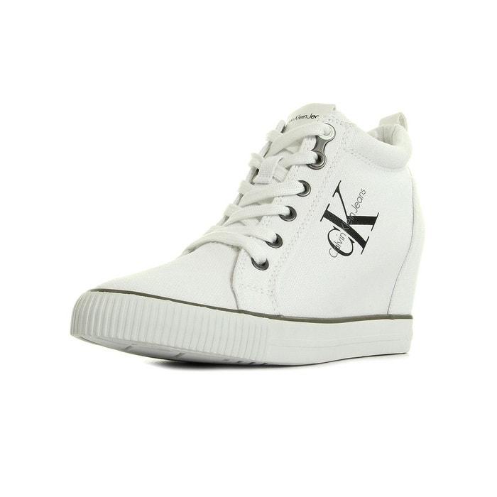 Ritzy canvas white  blanc/noir Calvin Klein  La Redoute