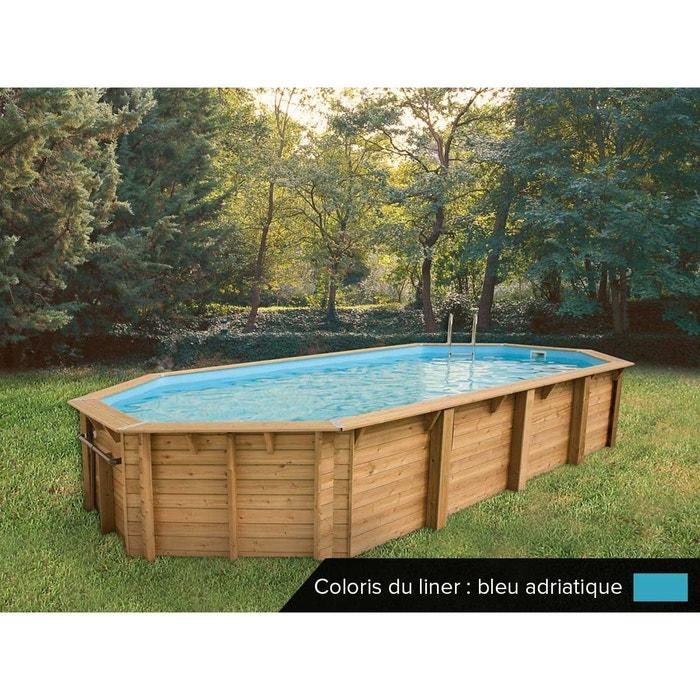 piscine bois oc a 8 60 x 4 70 x 1 30 m liner bleu ubbink la redoute. Black Bedroom Furniture Sets. Home Design Ideas
