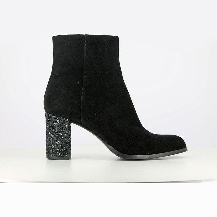 Boots cuir à talon dareios exclusivité la redoute noir Jonak