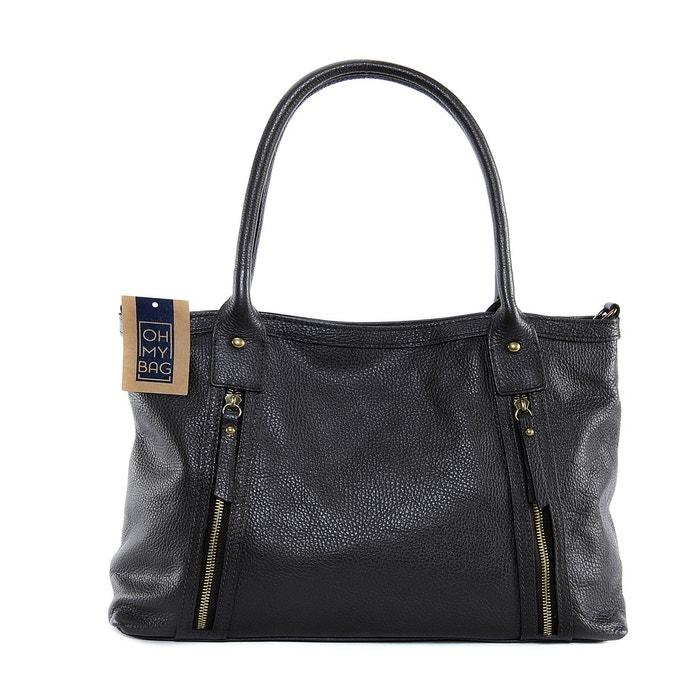 Sac à main en cuir rangoon Oh My Bag   La Redoute a5f977902681