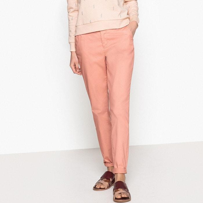 pantalon chino taille standard bois de rose only la redoute. Black Bedroom Furniture Sets. Home Design Ideas